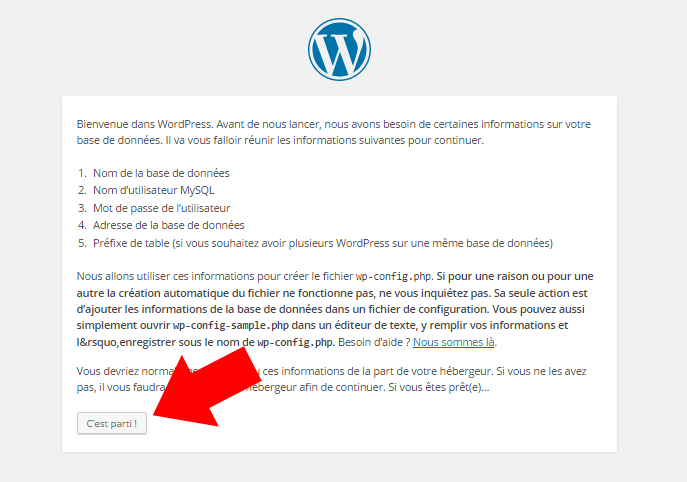base de donnee wordpress