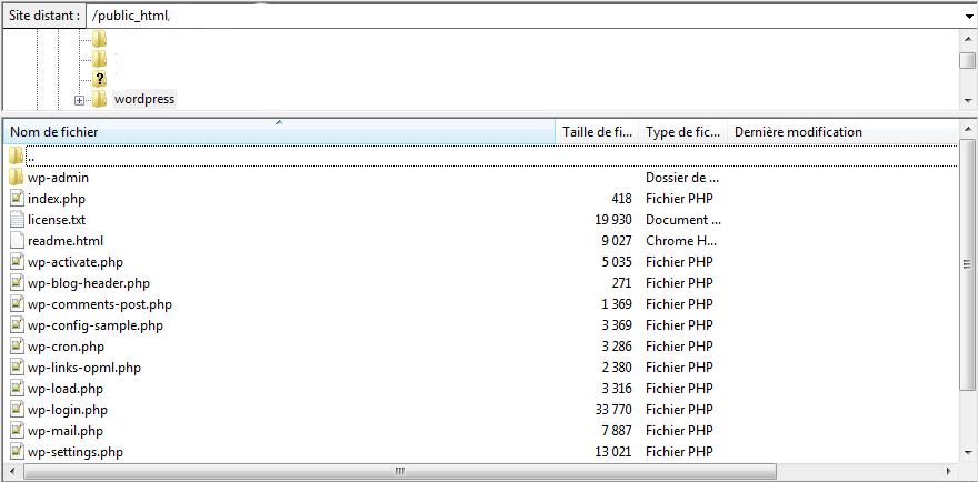 fichier su ftp