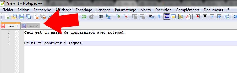 ouvrir deux fichiersnotepad