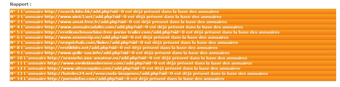 rapport import d'annuaires