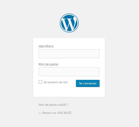se connecter à wordpress