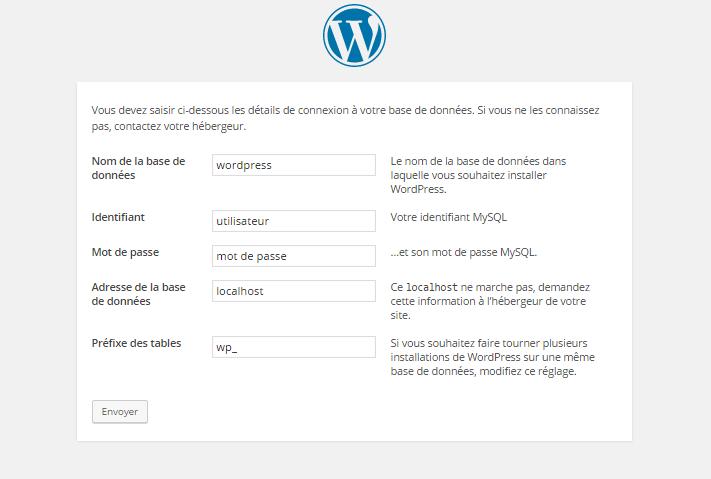 wordpress base donnee